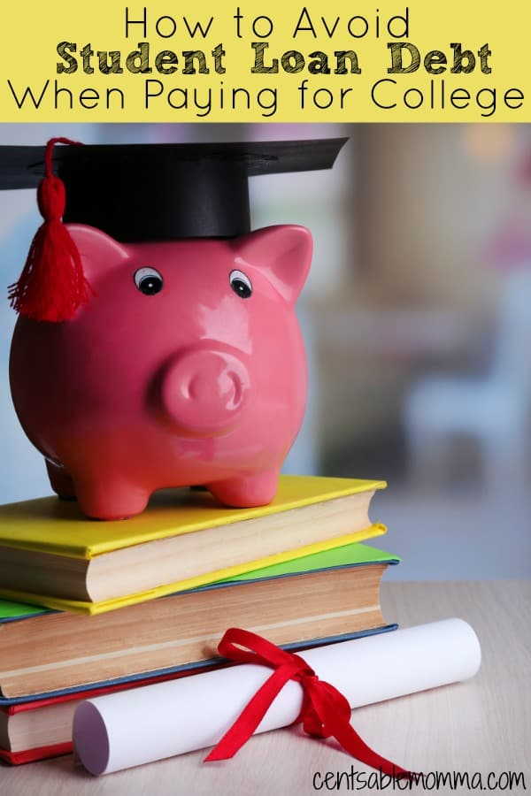 Taking out student loans to pay your college tuition doesn't have to be a given even if you don't have a lot in college savings. Check out these 5 tips to avoid student loan debt when you're paying for college.