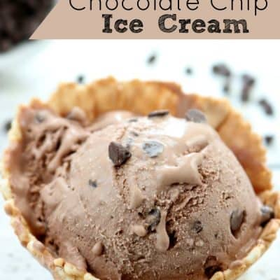 No Churn Chocolate Chocolate Chip Ice Cream Recipe