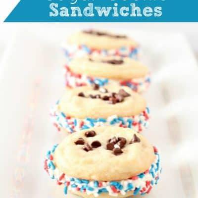 Patriotic Chocolate Chip Sugar Cookie Sandwiches Recipe