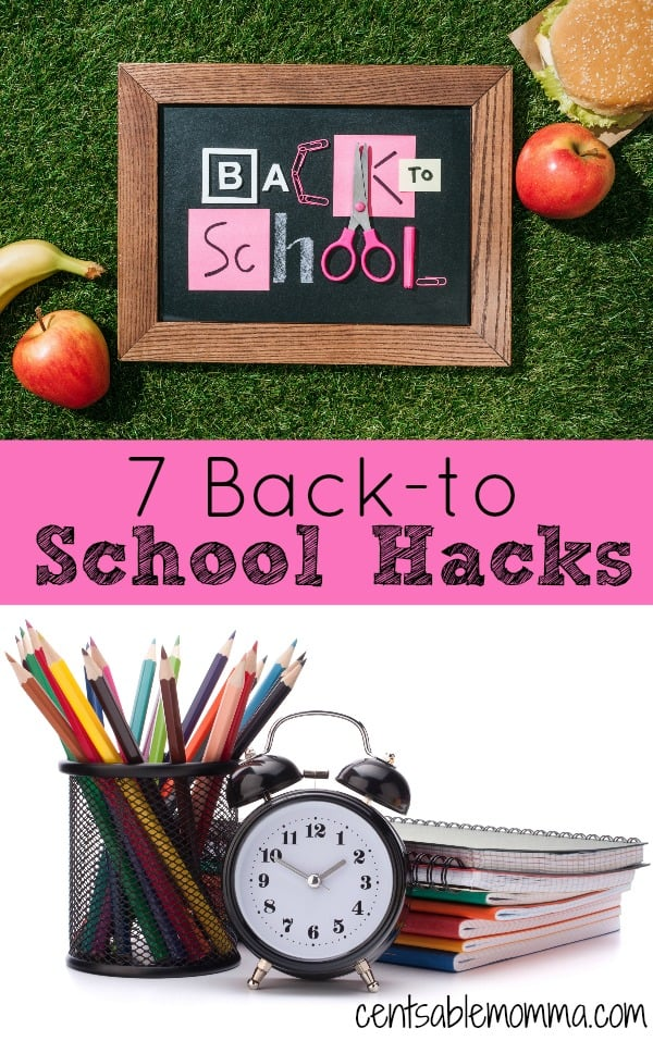 Getting ready for Back-to-School can be stressful and a busy time, but it doesn't have to be.  Check out these 7 Back-to-School Hacks sure to streamline your life - from packing lunches to homework and more.
