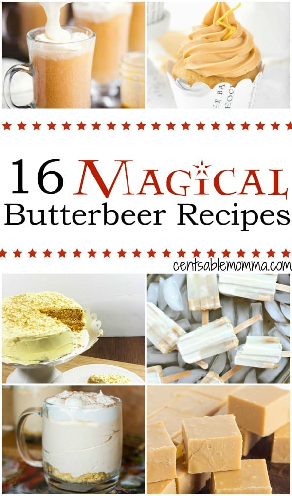 Pretend like you're in Hogsmeade with Harry Potter and friends with these yummy and fun Magical Butterbeer recipe ideas.  With a wide variety of ideas ranging from Butterbeer ice cream to cheesecake to popsicles and more.