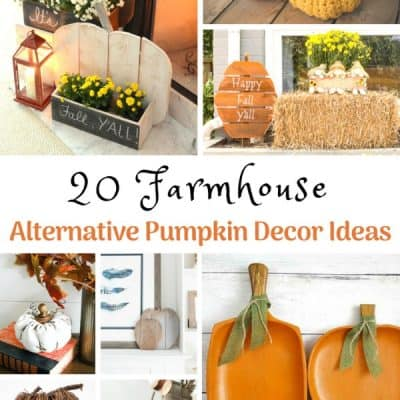 20 Farmhouse Alternative Pumpkin Decor Ideas