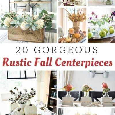 Rustic Fall Centerpiece Ideas