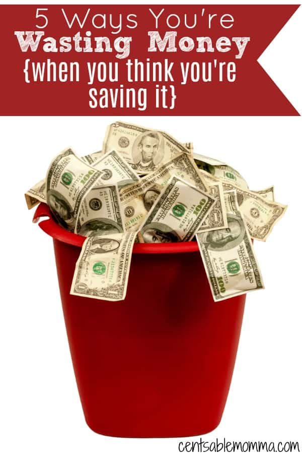 There are lots of tricks you can do to save money.  But, are you really saving money?  Check out 5 ways you're wasting money {when you think you're actually saving it!}