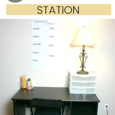 Tips for Setting Up a Homework Station