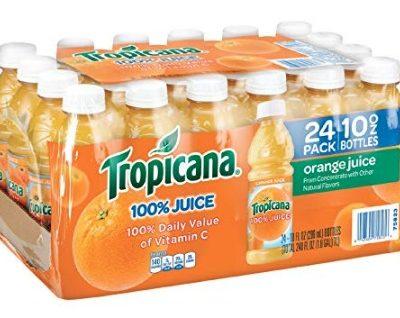Tropicana 100% Orange Juice (24 ct.): $7.99