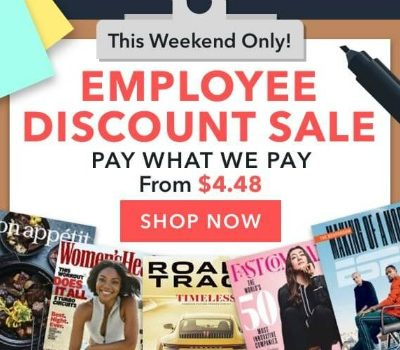 DiscountMags: Employee Discount Magazine Sale