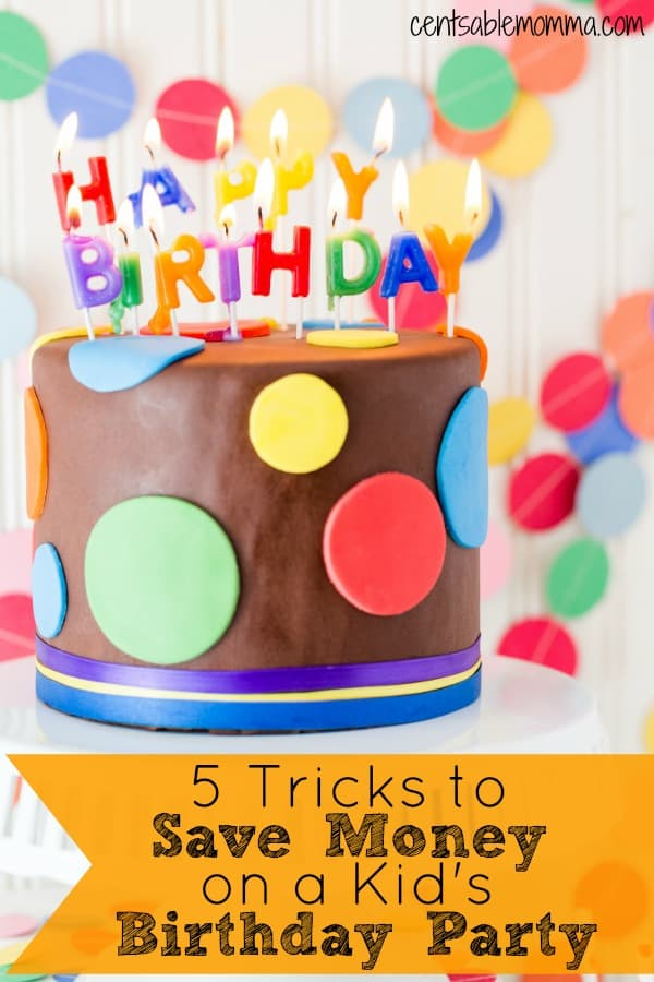 You want to throw your child an amazing birthday party, but you don't have an unlimited budget! Check out these 5 tricks to save money on a kid's birthday party for some tips on how to save money on a birthday celebration.