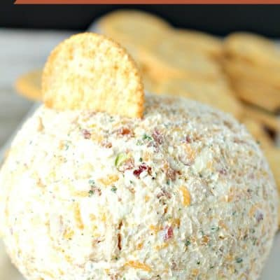 Easy Chicken Bacon Ranch Cheeseball Recipe