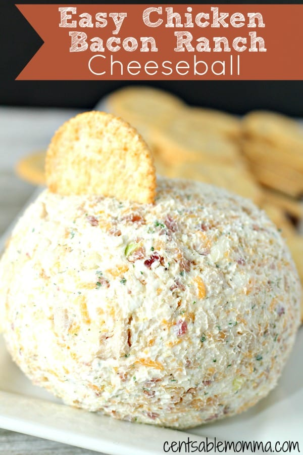 If you're looking for an easy and delicious party appetizer for Thanksgiving, Christmas, or New Year's (or even game day), you'll love this Easy Chicken Bacon Ranch Cheeseball recipe. Made with cream cheese, bacon bits, and popcorn chicken, it's easy to put together for a fun snack.