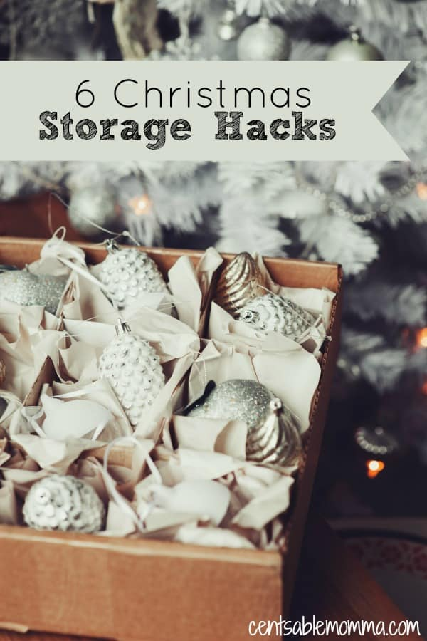 Don't you hate it when you start decorating for the holidays, and all of your decorations are in a jumbled mess? Check out these 6 Christmas Storage Hacks for some free and cheap tricks to organize and put away your Christmas decorations and tree this year to avoid the mess next year.