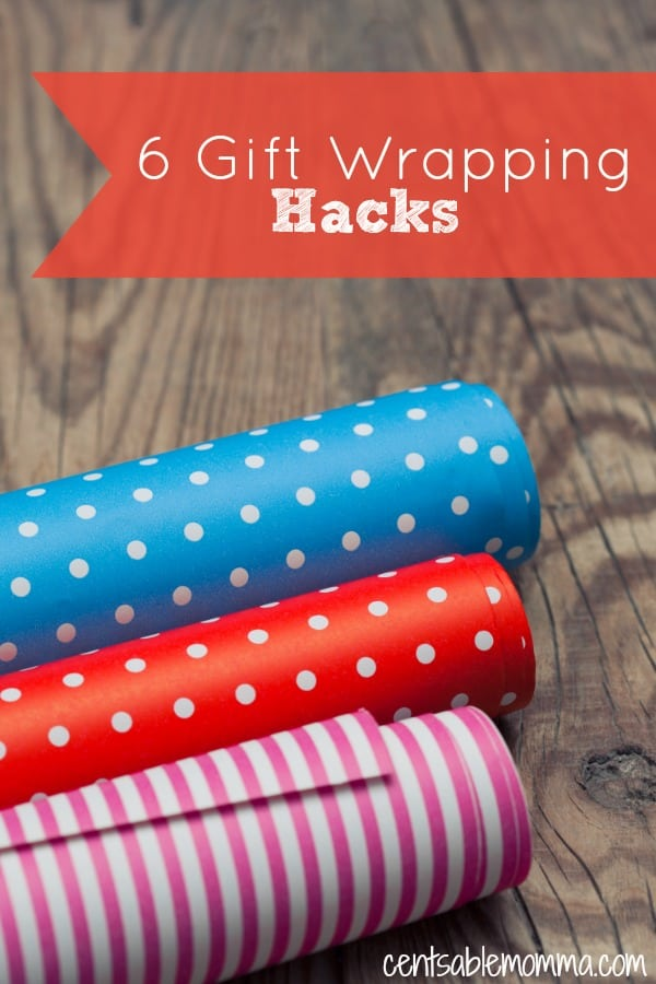 Gift Wrapping doesn't have to be complicated to look cute! Check out these 6 gift wrapping hacks for some ideas to make wrapping gifts easier and look great.