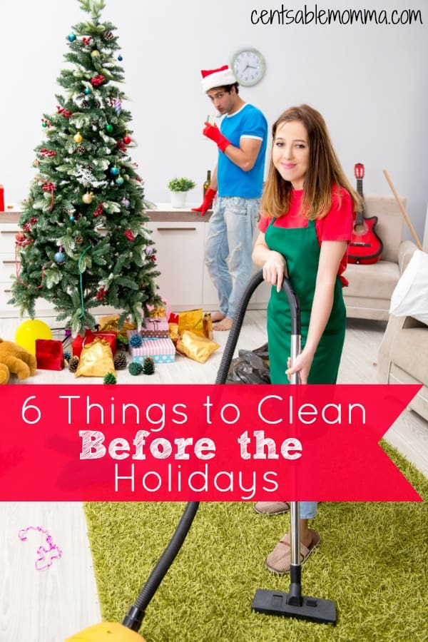 You have guests arriving soon for the holidays, but what do you need to do to prepare? Check out these 6 Things to Clean before the Holidays for some ideas of what to tackle first.
