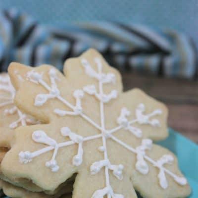 White Snowflake Cookies Recipe