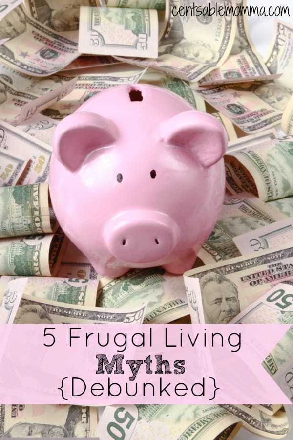 You may believe that being frugal means that you are cheap or can never have any fun. But, that's not true! Check out these 5 Frugal Living Myths {Debunked} and what's really true about frugal living.