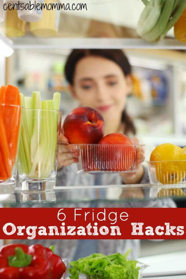 If it's a struggle to keep your refrigerator organized, you'll love these 6 Fridge Organization Hacks for some tips on how to keep your fridge clean and organized as a family.