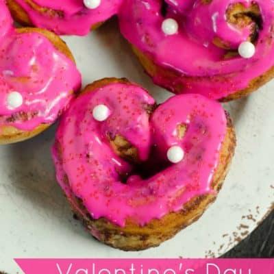 Valentine's Day Heart Cinnamon Rolls Recipe