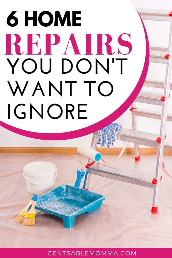 Making repairs to your house aren't usually fun, but there are some things you MUST take care of. Check out the 6 Home Repairs You Don't Want to Ignore to make sure you don't make the mistake of putting off repairs for too long.