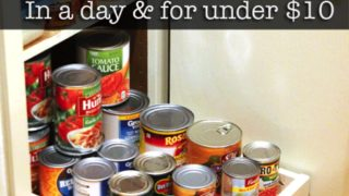 Organize Your Pantry with DIY Slide-Out Cabinet Shelves