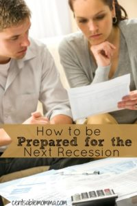 couple worried about a potential upcoming recession