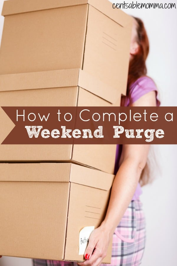 You're tired of your house always feeling disorganized and cluttered, but you're not really sure what to do about it. Check out these 5 tips for how to complete a weekend purge for some tips on how to get started and be successful with your decluttering and organization.