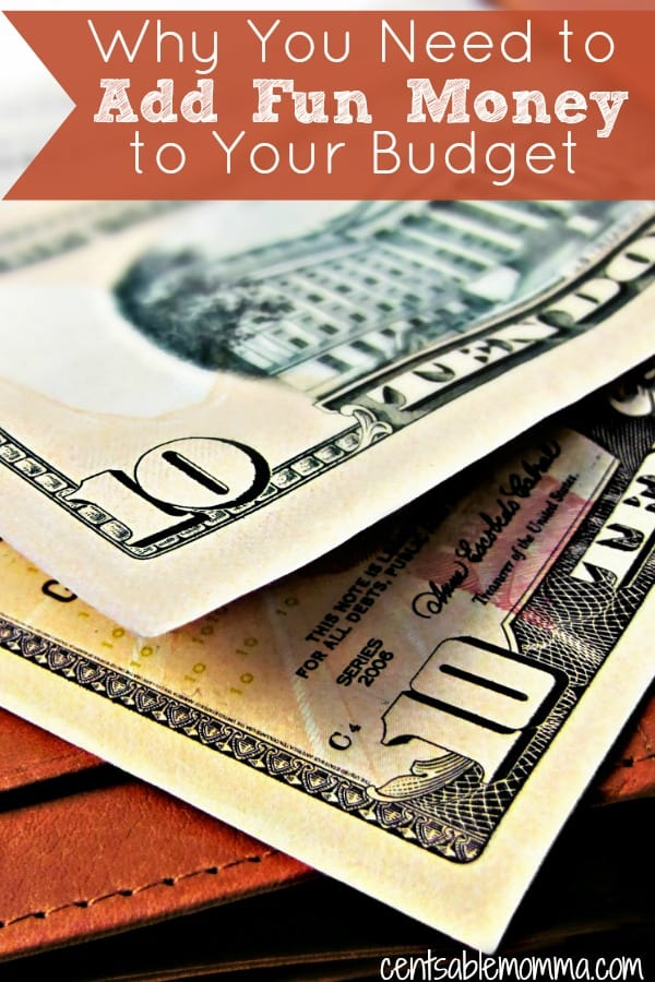 Your budget will be more successful and you'll be more likely to stick to your budget and your financial goals when you add fun money to your budget as a line item.  Check out this and other reasons why you need to budget for fun each and every month.