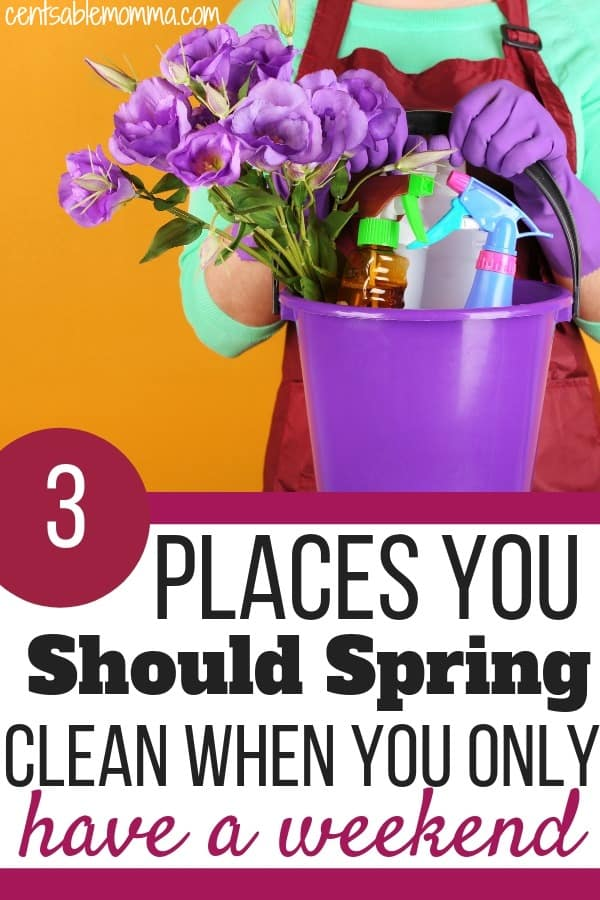 Are you short on time, but you still want to spring clean the most important parts of your house?  Check out these 3 places you should spring clean when you only have a weekend for some tips on how to make the most of your time and have the most impact on your home.