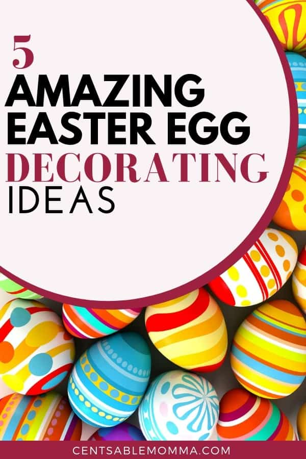 You want your decorated Easter eggs to look amazing, but you're not sure how to do it.  Check out these 5 amazing Easter egg decorating ideas for lots of fun ways to decorate your eggs including patterns, characters, and more.