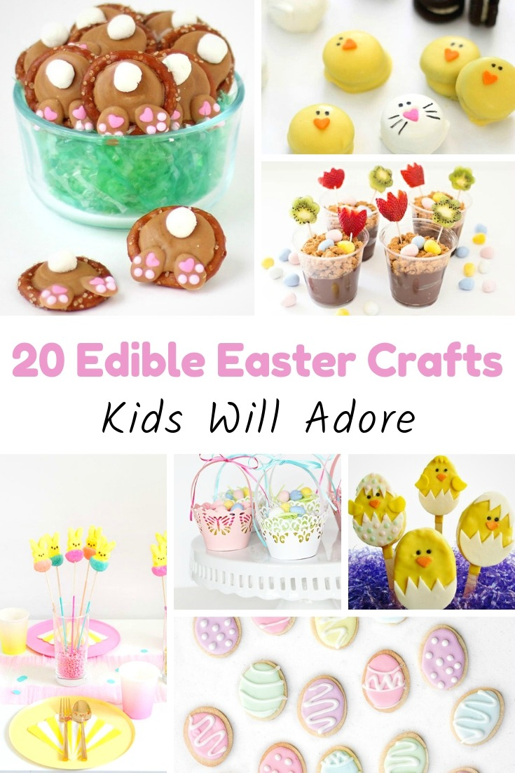 Have fun with your kids and create a fun snack for Easter with these Edible Easter Craft ideas that your children will love - 20+ different ideas!