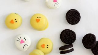 mini bunny and chick Oreo bites are a perfect Easter treat
