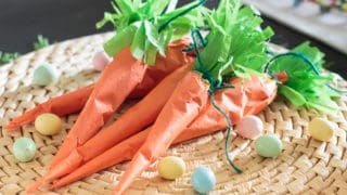 Candy-Filled Tissue Paper Carrots for Easter!