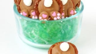 Bunny Butt Pretzels - Peanut Butter Easter Treats