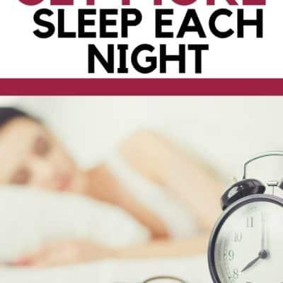 5 Tricks to Get More Sleep Each Night