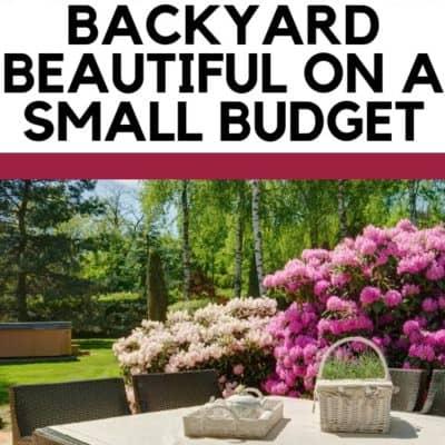 5 Tricks to Make Your Backyard Beautiful on a Small Budget