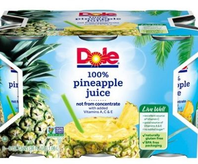 Printable Coupon: $0.65 off Dole Canned Juice + Walmart Deal