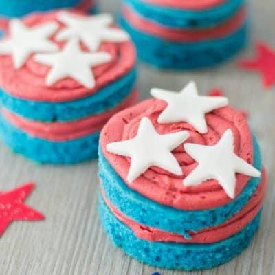 Mini Patriotic Cakes Recipe