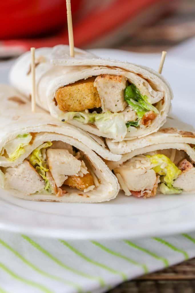 Grilled Chicken Caesar Wraps {Yummy & Healthy}