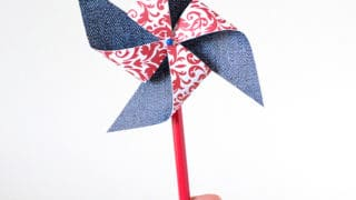DIY: Fourth of July Paper Pinwheels | Mom Spark - Mom Blogger