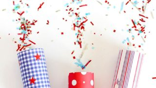 DIY Confetti Poppers for 4th of July