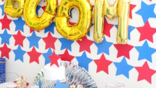 DIY 4th of July Party Backdrop Idea