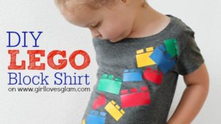 DIY Falling Lego Blocks Shirt & GIVEAWAY!