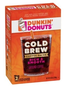 Printable Coupon: $1.50 off Dunkin Cold Brew Product + Walmart Deal