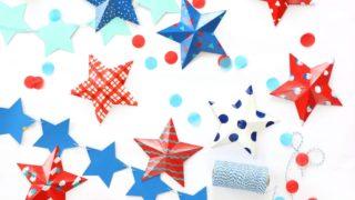 Decor: Modern Patriotic Painted 3D Stars