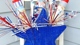 Independence Day Decorations with Faux Vintage Firecrackers