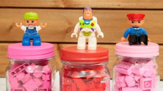 DIY LEGO Valentines in Mini Jars for Kids