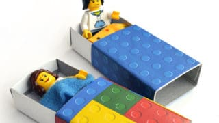 Lego Matchbox Beds - minifigs need a nap