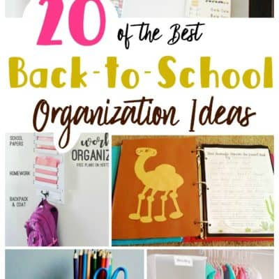 20 of the Best Back-to-School Organization Ideas