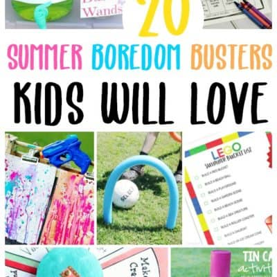20 Summer Boredom Busters Kids Will Love