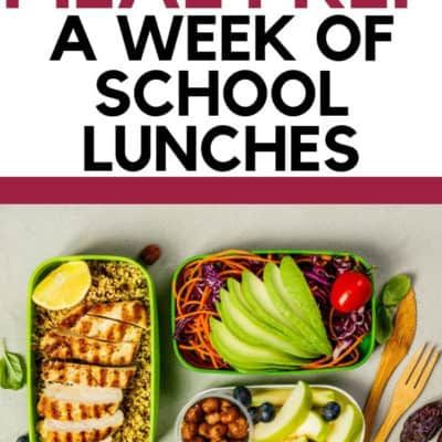 5 Tricks to Meal Prep a Week of School Lunches