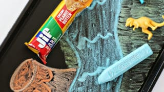 Dinosaur Chalkboard Activity Tray